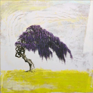Robert Marchessault, 'Wisteria' Contemporary Abstract Tree Mixed Media Painting For Sale