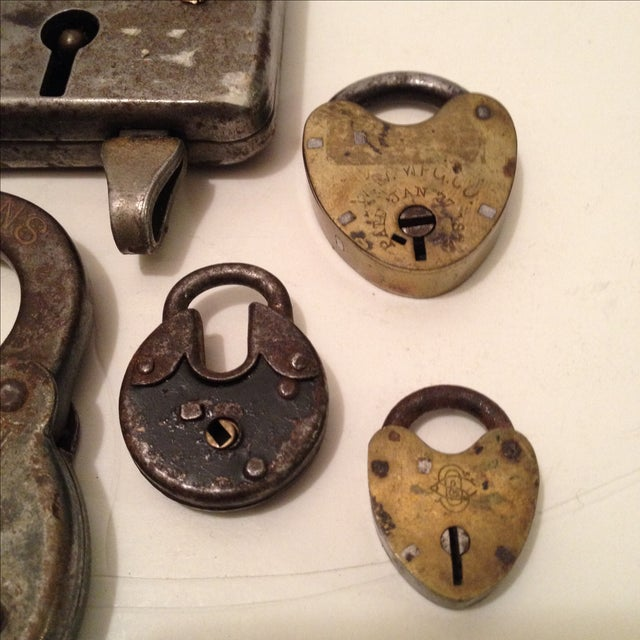 Assorted Antique Locks - Set of 5 - Image 4 of 6