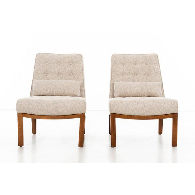 Dunbar Berne Edward Wormley Pair of Slipper Chairs For Sale - Image 4 of 4