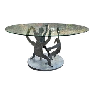 Postmodern Steel Coffee Table in the Manner of Keith Haring For Sale