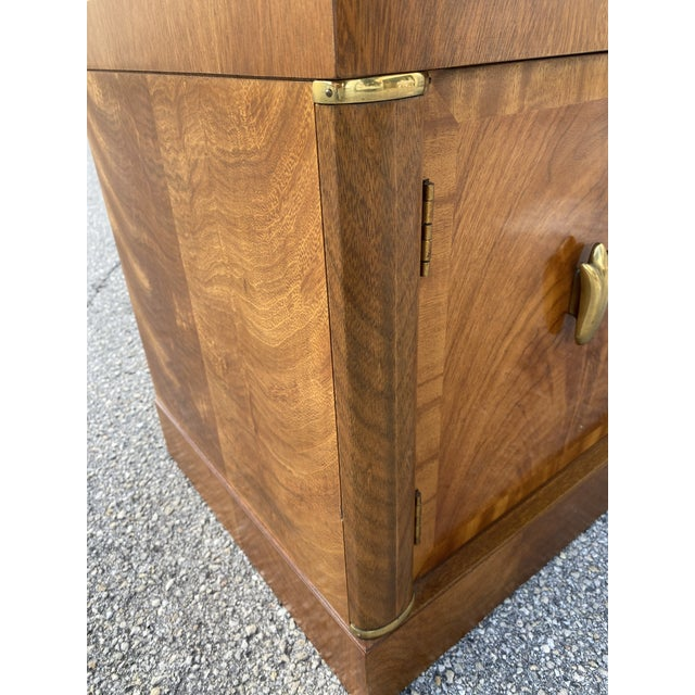 1980s Henredon Burl Nightstand Tables with Granite Tops - a Pair For Sale - Image 12 of 13