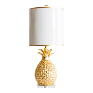Golden Pineapple Table Lamp For Sale