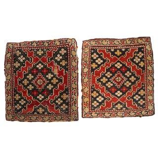 """Antique Armenian Karabakh Rugs - 1'4"""" x 1'6"""" - A Pair"""