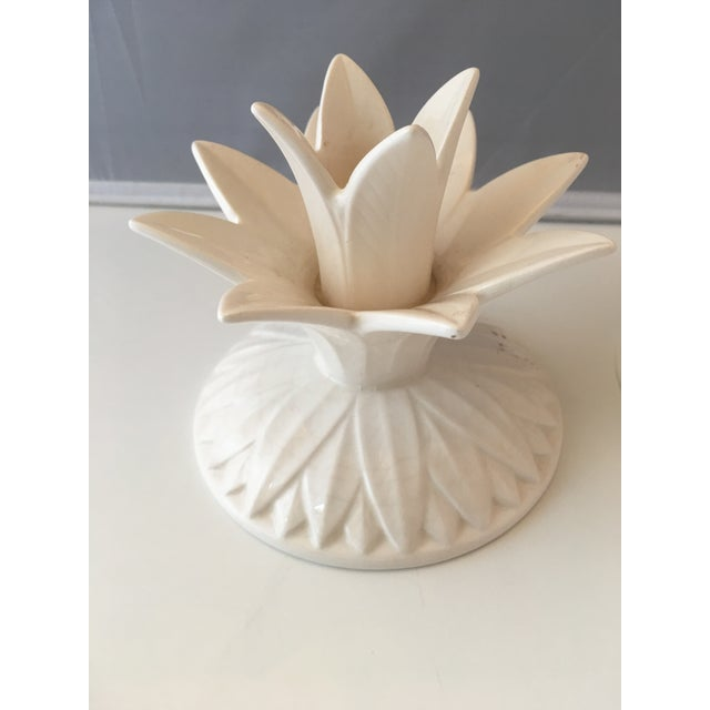 Fitz & Floyd Palm Candleholders - A Pair - Image 4 of 5