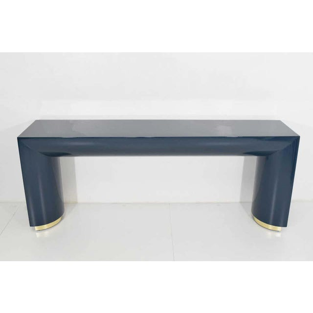 Metal Jay Spectre or Karl Springer Style Console For Sale - Image 7 of 9