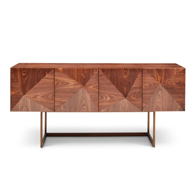 Cube Sideboard in Brown For Sale - Image 9 of 9