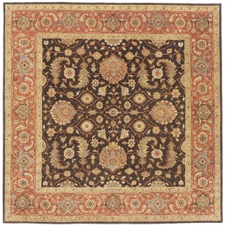 Indian Hand Made Square Rug- 8′1″ × 8′1″ For Sale