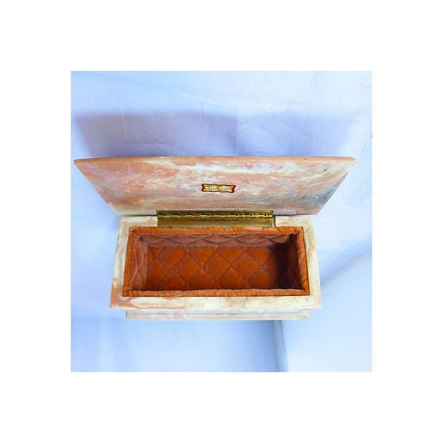 Vintage Floral Cameo Pink Jewelry Box - Image 6 of 6