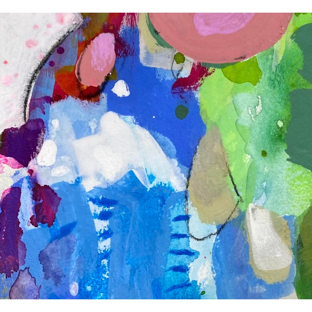 """""""Every Step"""" Contemporary Abstract Mixed-Media Painting by Gina Cochran For Sale - Image 4 of 4"""