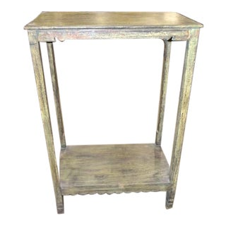 Indian Tall Wooden Entry Table For Sale