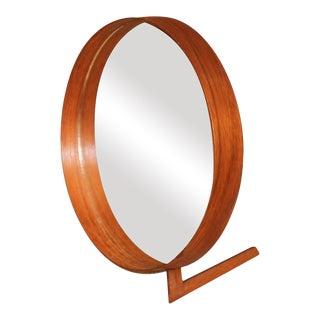 Mid Century Uno and Osten Kristiansson Teak Table Mirror Luxus Sweden For Sale