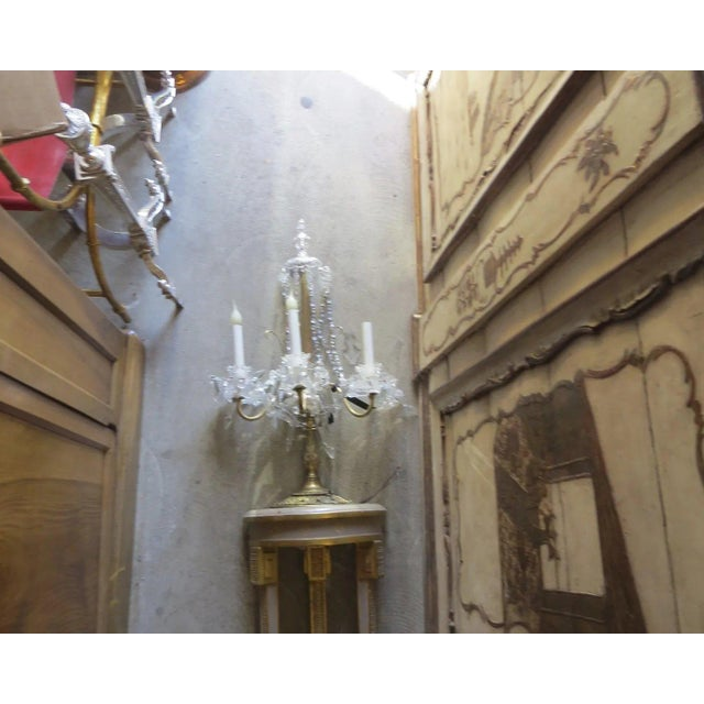 Narrow Demilune Table and Sconce For Sale In Denver - Image 6 of 9