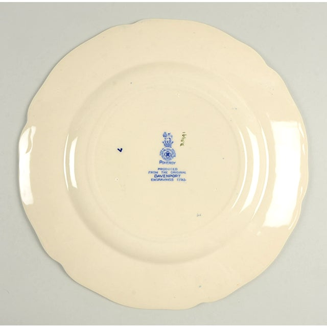 Early 20th Century Royal Doulton Pomeroy Blue Dinner Plate - Set of 8 For Sale - Image 5 of 7