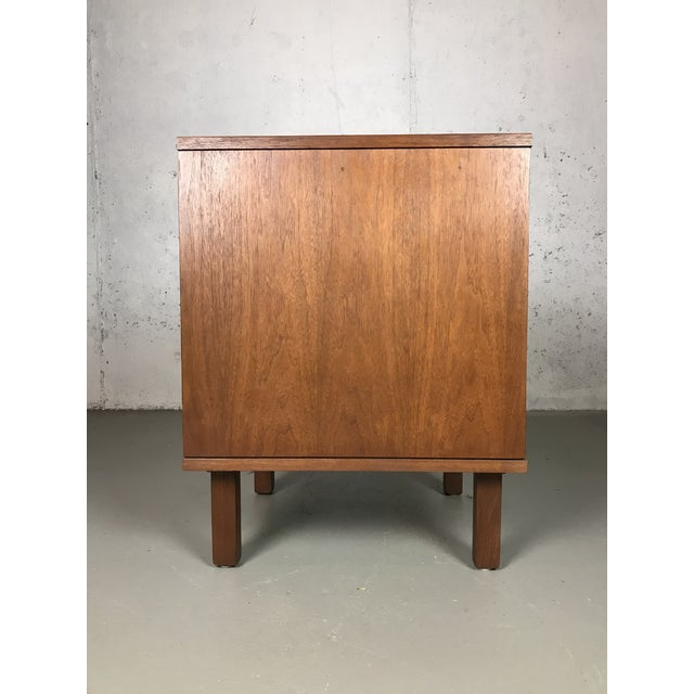 Mid-Century Modern Mid-Century Modern 1960's Petite Low Chest in Walnut by Jens Risom For Sale - Image 3 of 11