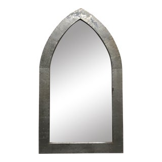 Industrial Arched Metal Mirror