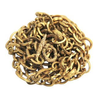 Antique Victorian Gold Filled Chain Necklace For Sale