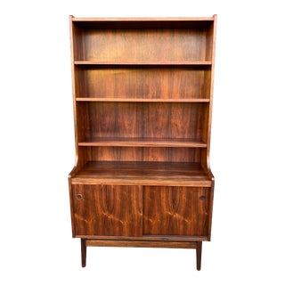 1960s Mid Century Modern Brazilian Rosewood Cabinet Bookcase by Johannes Sorth for Bornholm For Sale