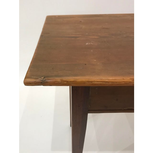 Pine Antique Pine Stair Tread Writing Desk For Sale - Image 7 of 11 - Antique Pine Stair Tread Writing Desk Chairish