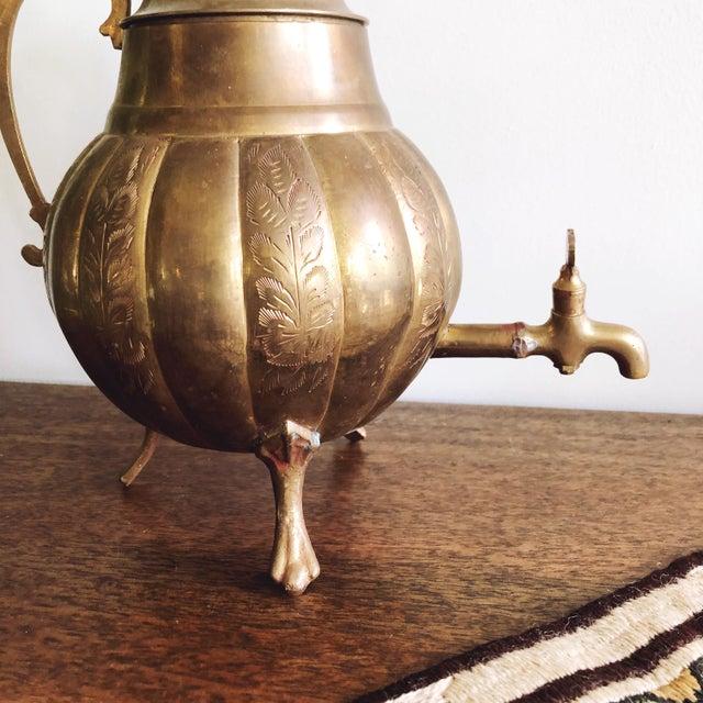 Indian Vintage Brass Indian Samovar Tea Dispenser For Sale - Image 3 of 6