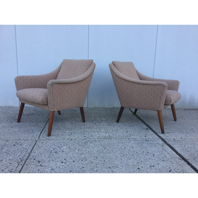 Vintage Danish Modern Lounge Chairs - A Pair - Image 11 of 11