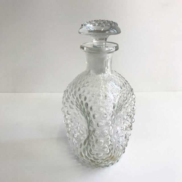 Hand Blown Hobnail Glass Decanter - Image 3 of 6