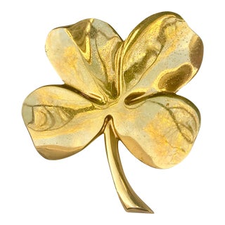 Lucky Gold Plated Four Leaf Clover For Sale