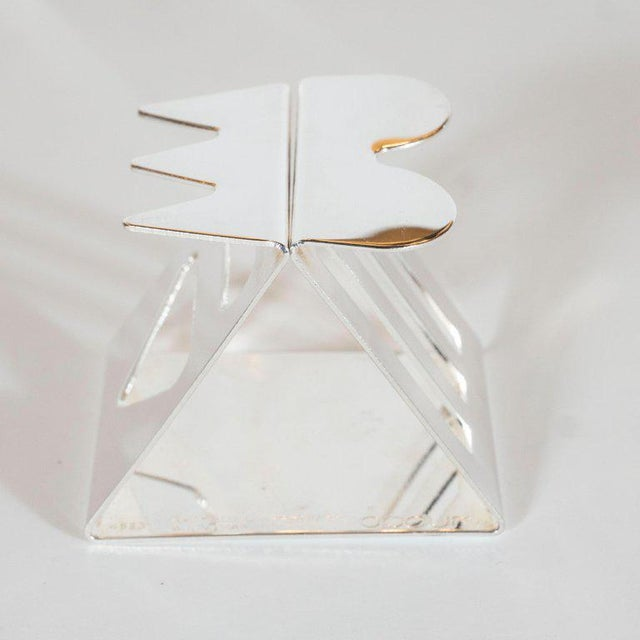 Silver Modernist Memphis Silverplate Napkin Rings by Nathalie Du Pasquier for Bodum - 11 Pc. For Sale - Image 8 of 11