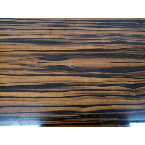 Brown Mid-Century Modern Danish Draw Leaf Expanding Dining Table For Sale - Image 8 of 13
