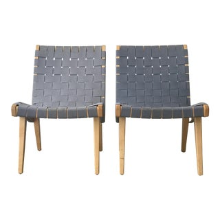 Jens Risom Lounge Chairs by Knoll - a Pair