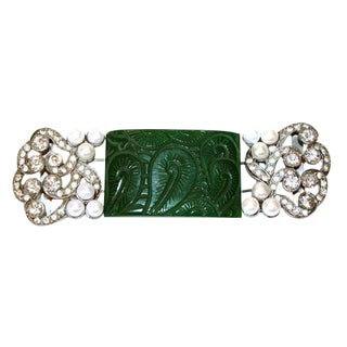 C.1930's Bakelite and Cultured Pearl Belt Buckles For Sale