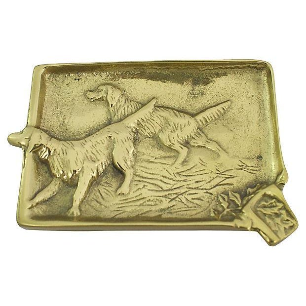 1940s Brass Setter Ashtray For Sale - Image 4 of 4