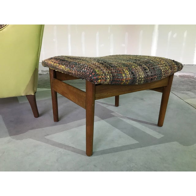Lawrence Peaboby for Richardson / Nemschoff 1960s Mid Century Modern Scandinavian High Back Lounge Chair Model 9203 and Ottoman For Sale - Image 10 of 13