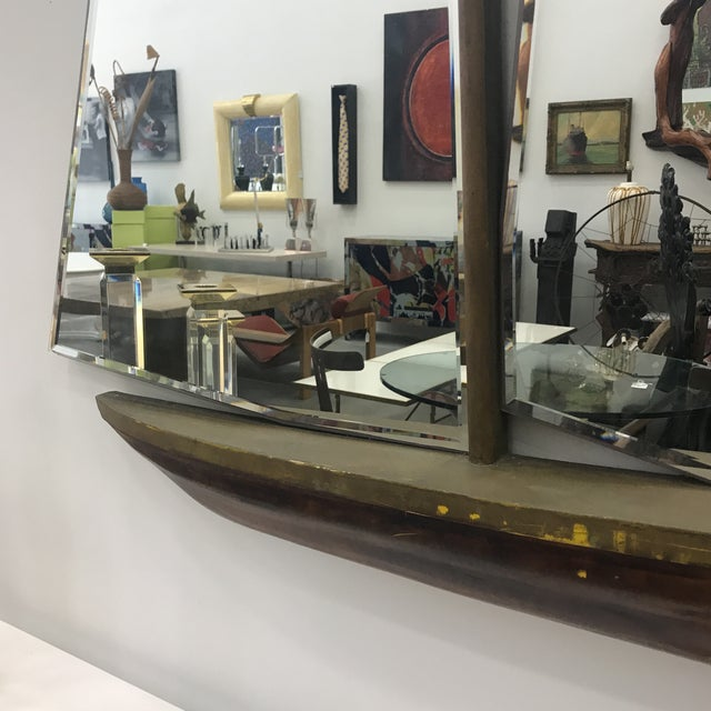 1930s Art Deco Nautical Ship Wall Mirror For Sale - Image 4 of 13