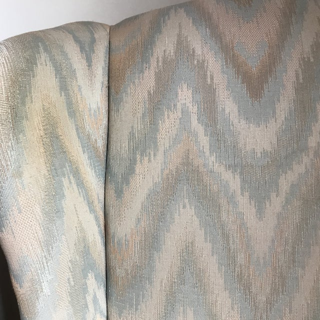 1980s Vintage Houston House Flame Stitch Wingback Chairs - A Pair For Sale In Raleigh - Image 6 of 9