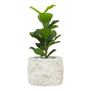 Country French Hand Crafted Stone Planter For Sale