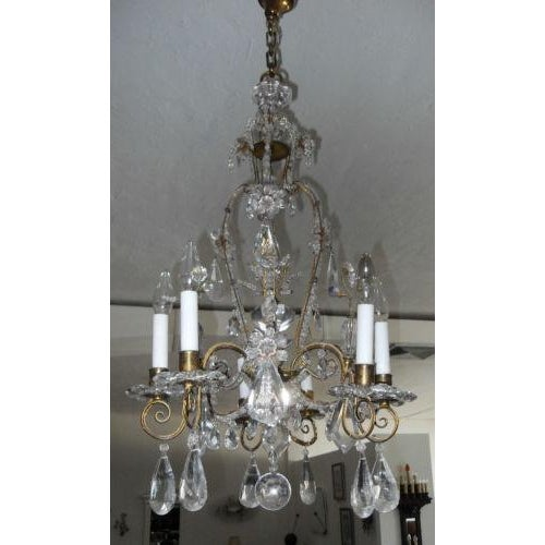 French 19th Century Maison Bagues Rock Crystal Chandelier For Sale - Image 3 of 10