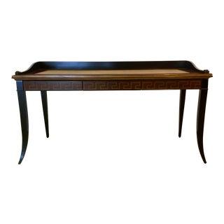 Caracole Modern Greek Key Wood Writing Desk For Sale