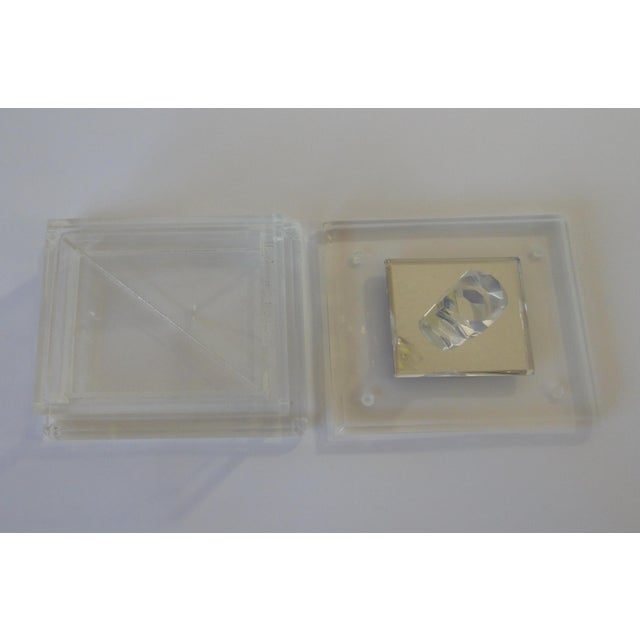 Handcrafted Art-Deco Clear Lucite Jewelry Box - Image 4 of 8