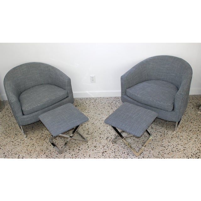Mid-Century Modern Milo Baughman for Thayer Coggin Chairs - a Pair For Sale - Image 11 of 13