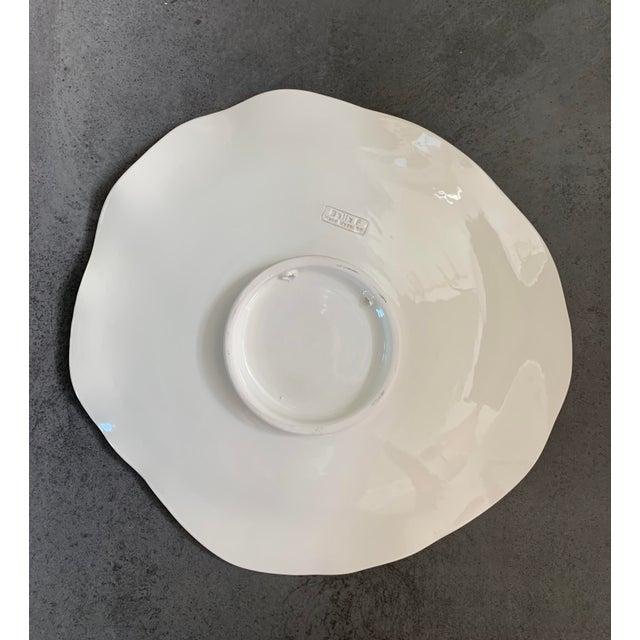 Modern Mediterranean Handmade Glazed Pottery Platter, Evil Eye 2 For Sale In New York - Image 6 of 8