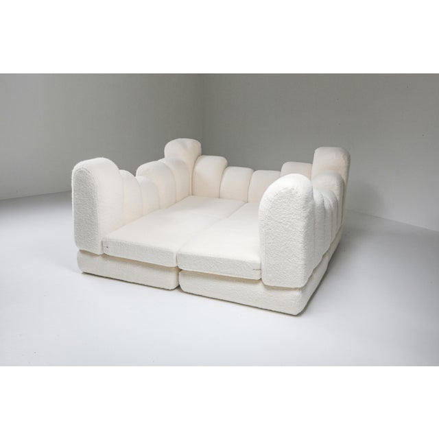 Hans Hopfer 'Dromedaire' Sectional Sofa in Pierre Frey Wool, Roche Bobois - 1974 For Sale - Image 12 of 12