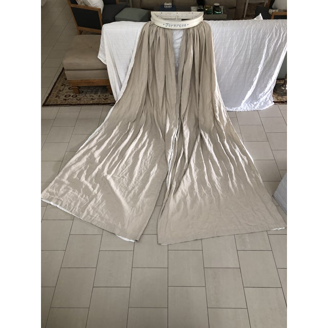 Swedish Gustavian Bed Canopy With Linen Drapery For Sale - Image 13 of 13