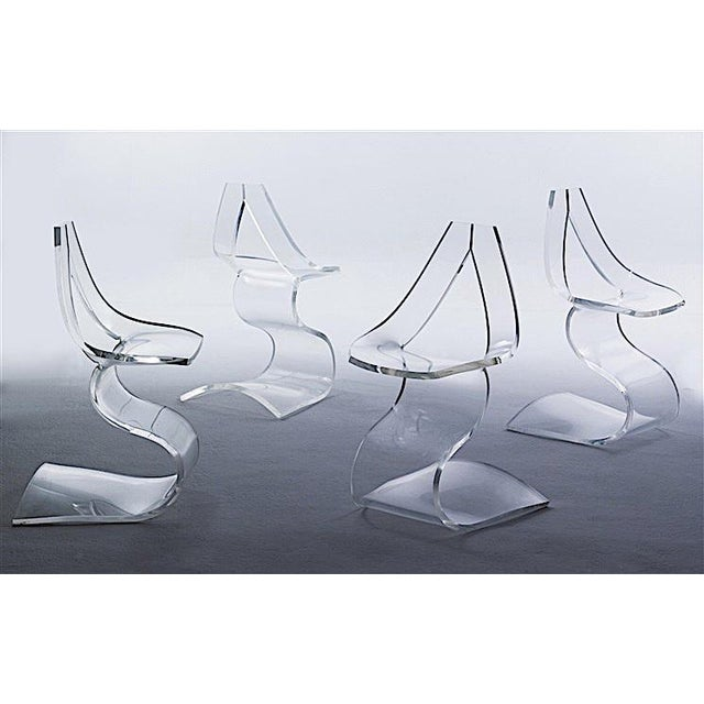 """Boris Tabacoff MMM """"Dumas"""" Lucite Chairs - a Pair For Sale - Image 9 of 9"""