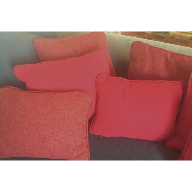 Solid Striated Silk Blend Pillows - Set of 6 - Image 4 of 7
