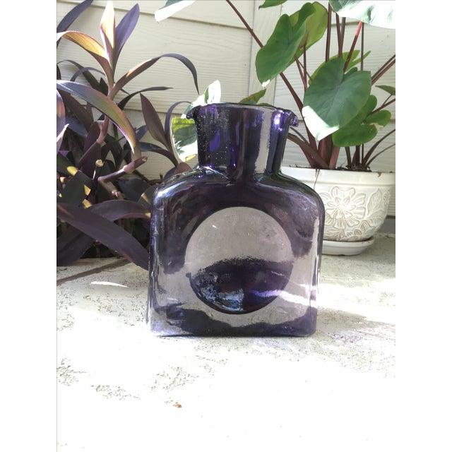 Mid-Century Blenko Amethyst Purple Glass Pitcher - Image 4 of 4