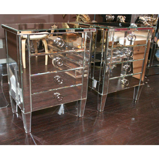Pair of Custom Mirrored End Tables For Sale - Image 9 of 9