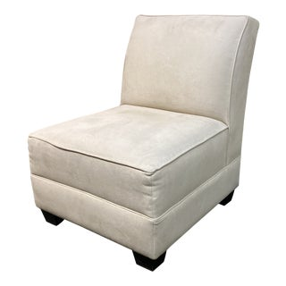 Every Micro Suede Accent Chair For Sale