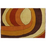 Image of Vintage Swedish Rug with Mid-Century Modern Style - 5′6″ × 8′ For Sale