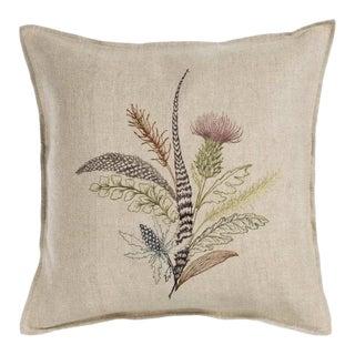Contemporary Thistle Linen Pillow
