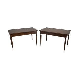 Italian Walnut Pair Louis XVI Style Hall Tables For Sale